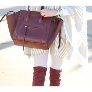 CELINE Burgundy Leather Phantom